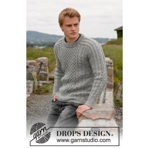 Dreams of Aran by DROPS Design - Jacka Stick-opskrift str. 13/14 år og S - XXXL