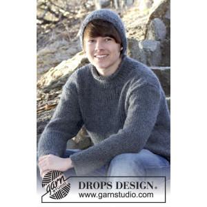 Rover by DROPS Design - Sweater, Mössa och Halsduk Stick-opskrift strl. S/M - XXL