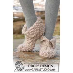 Pixie Dust by DROPS Design - Tofflor Stick-opskrift strl. 35/37 - 42/44