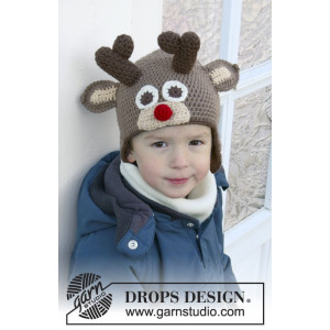 Little Rudolph by DROPS Design - Mössa Virk-opskrift strl. 6/9 mdr - 9/10 år