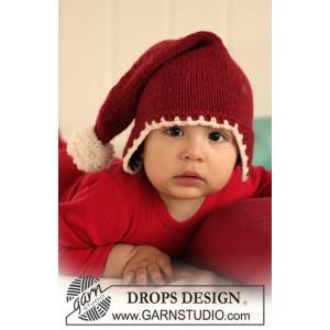 Santa Baby by DROPS Design - Baby Tomtemössa Stick-mönster strl. 1/3 mdr - 3/4 år