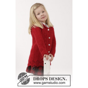Bright Sally by DROPS Design - Jacka Stick-opskrift strl. 2 år - 11/12 år