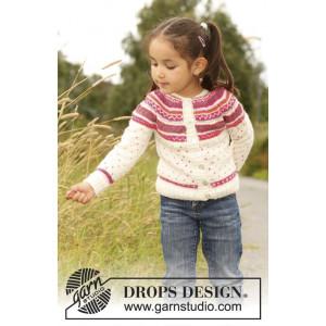 Jolie Fleur by DROPS Design - Jacka Stick-opskrift strl. 3/4 år - 11/12 år