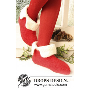 Santa Toe by DROPS Design - Filtade Tofflor Stick-opskrift strl. 21/23 - 45/48