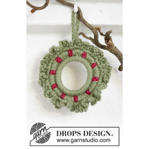 Winterberry by DROPS Design - Julkrans Virk-mönster 8,5 cm