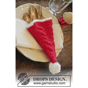 Dinner At The Kringles by DROPS Design - Bestickhållare Stick-opskrift 16x22 cm - 2 st.