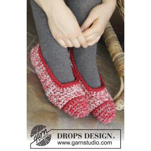 Merry Slippers by DROPS Design - Tofflor Virk-opskrift str. 35/37 - 42/44