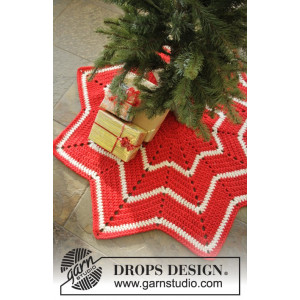 Under the Christmas Tree by DROPS Design - Julgransmatta Virk-mönster 95 cm