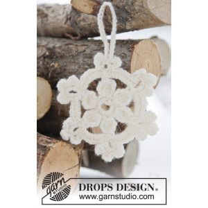 White Christmas by DROPS Design - Julstjärnor Virk-mönster 8 cm - 15 stk