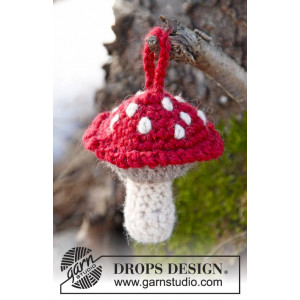 Fairy Garden by DROPS Design - Jul Flugsvamp Virk-opskrift 9 cm