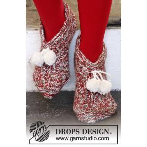 Sockin' Around by DROPS Design - Jultofflor Stick-opskrift str. 35/37 - 41/43