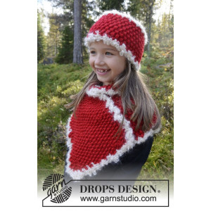 Santa's Little Helper by DROPS Design - Pannband och fuskpolo Stick-opskrift 3-12 år