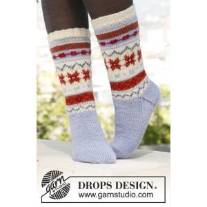 Winter Breeze by DROPS Design - Sockor Stick-opskrift str. 35/37 - 44/46