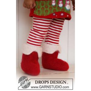 Nissefutter by DROPS Design - Baby jultofflor Stick-opskrift str. 21/23 - 45/48