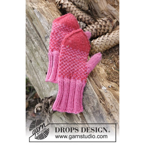 Warmhearted Mittens by DROPS Design - Vantar Stick-opskrift str. 12/18 mdr - 5/6 år