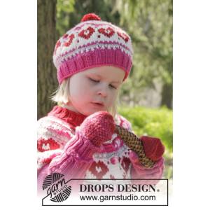 Warmhearted Hat by DROPS Design - Mössa Stick-opskrift str. 12/24 mdr - 3/6 år