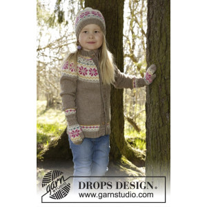 Prairie Fairy by DROPS Design - Jacka Stick-opskrift strl. 3/4 - 11/12 år