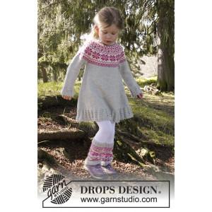 Forest Dance by DROPS Design - Klänning Stick-opskrift strl. 3/4 - 11/12 år