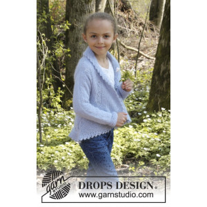 Alvina by DROPS Design - Cirkeljacka Stick-opskrift strl. 3/5 - 11/12 år