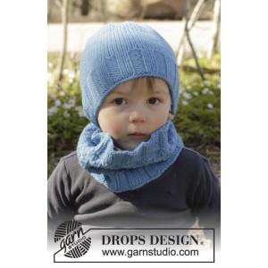 Bluebeard by DROPS Design - Mössa og Halsvärmare Stick-opskrift strl. 12/18 mdr - 7/10 år