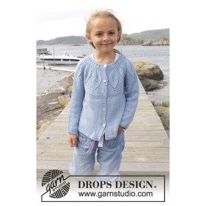 Sweet Bay Jacket by DROPS Design - Jacka Stick-opskrift strl. 3/4 - 13/14 år