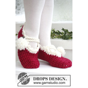 Santas Ballerinas by DROPS Design - Tofflor Virk-opskrift strl. 35/37 - 41/43