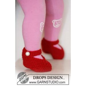 Rosy Toes by DROPS Design - Tofflor Virk-mönster strl. 1/3 mdr - 3/4 år