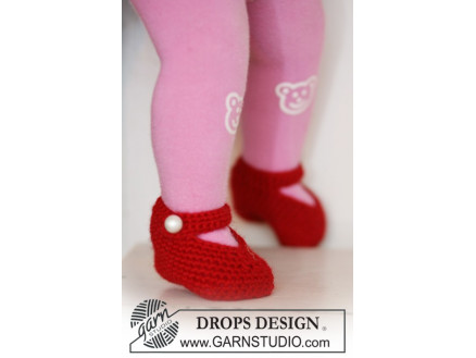 1598e8d4d2f3 Rosy Toes by DROPS Design - Tofflor Virk-mönster strl. 1/3 mdr - 3/4 ...