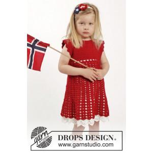 Princess Matilde by DROPS Design - Klänning och hårband Virk-opskrift strl. 2 år - 9/10 år