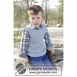 Vest is Best! by DROPS Design - Tröja Stick-opskrift strl. 2 - 11/12 år