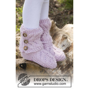 strlawberry Pudding by DROPS Design - Tofflor Stick-opskrift strl. 20/21 - 35/37