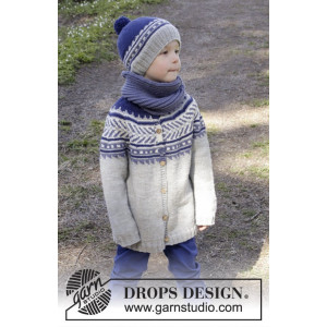Little Adventure Jacket by DROPS Design - Jacka Stick-opskrift strl. 3/4 - 11/12 år