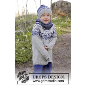 Little Adventure by DROPS Design - Tröja Stick-opskrift strl. 3/4 - 11/12 år