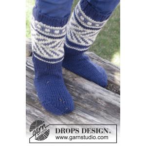 Little Adventure Socks by DROPS Design - Sockor Stick-opskrift strl. 22/23 - 35/37
