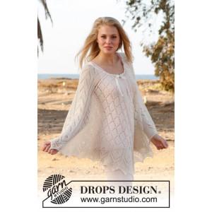 Honeymoon by DROPS Design - Poncho Stick-opskrift strl S/M/L - XL/XXL/XXXL