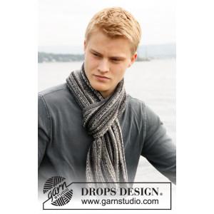 Caspian by DROPS Design - Halsduk Stick-opskrift 150x22 cm