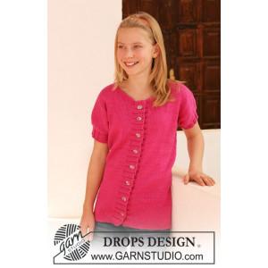 Young Linda by DROPS Design - Jacka Stick-opskrift str. 7/8 år - 13/14 år