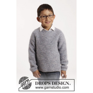 Modest Michael by DROPS Design - Tröja Stick-opskrift str. 12/18 mdr - 9/10 år