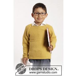 Clever Clark by DROPS Design - Tröja Stick-opskrift str. 12/18 mdr - 9/10 år
