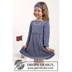 Wendy Darling by DROPS Design - Klänning och Hårband Stick-opskrift str. 2 år - 9/10 år