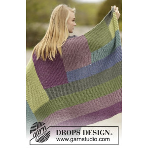 Colorblock by DROPS Design - Filt Stick-opskrift 130x88 cm