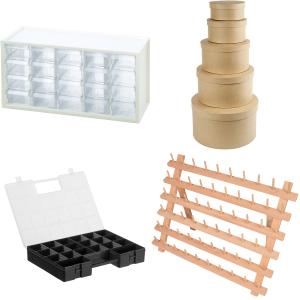 Förvaring - väskor, garnskålar, sylådor osv.