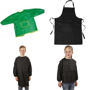 Förkläden och engångshandskar