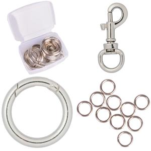 Karbinhakar och nyckelringar